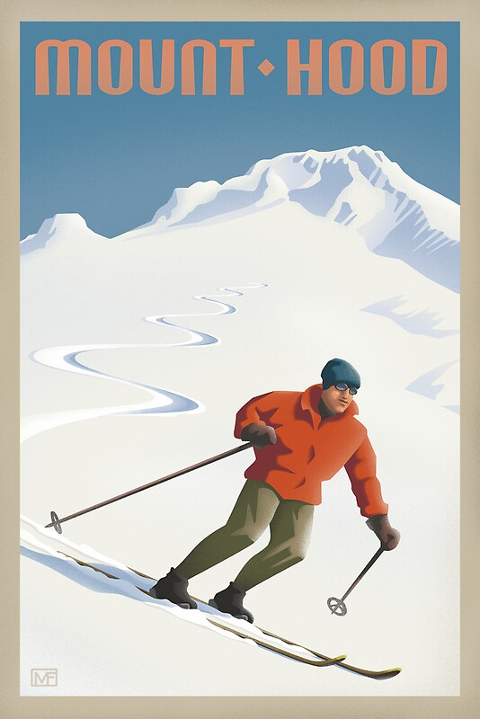 Quot Vintage Ski Mount Hood Travel Poster Quot Posters By