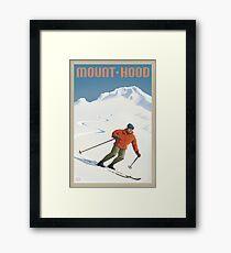 Vintage Ski Mount Hood Travel Poster Framed Print