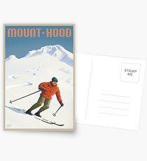Vintage Ski Mount Hood Travel Poster Postcards