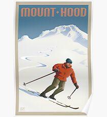 Vintage Ski Mount Hood Travel Poster Poster
