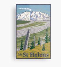 Vintage Mount St. Helens Travel Poster Metal Print