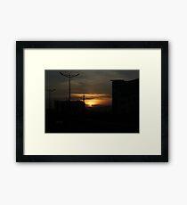urban sunset Framed Print