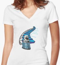 The Stairs Never Bothered Me Anyway Women's Fitted V-Neck T-Shirt