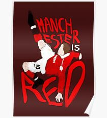 Manchester is Red Poster