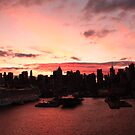 New York City skyline at sunrise photography by Vitaliy Gonikman