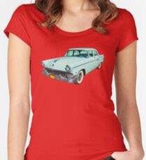 1956 Ford Custom Line Antique Car Women's Fitted Scoop T-Shirt