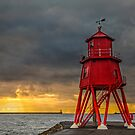 Herd Groyne Lighthouse by David Lewins