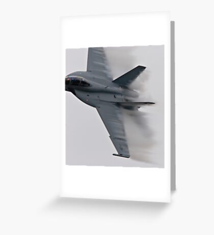 F18 Jet - Pt Magu Airshow Greeting Card
