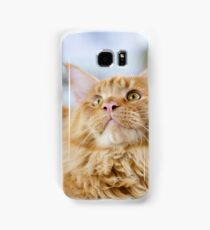 Red-white tabby Maine Coon cat Samsung Galaxy Case/Skin