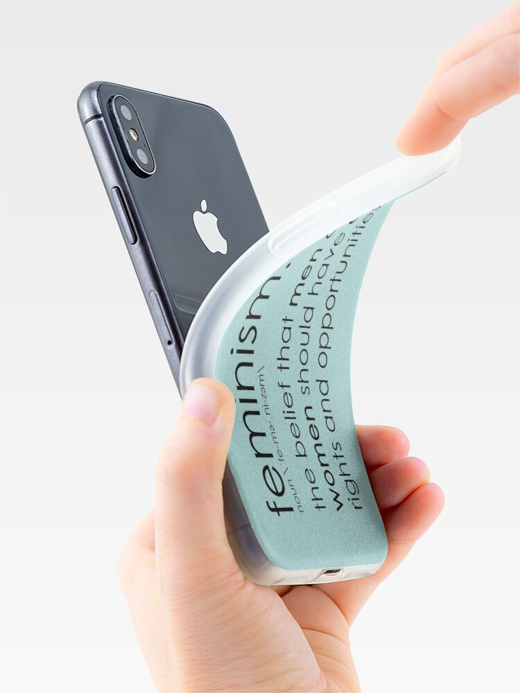 Alternate view of The true definition of feminism - blue iPhone Case & Cover