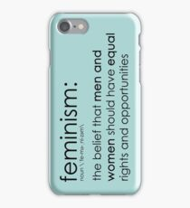 The true definition of feminism - blue iPhone Case/Skin