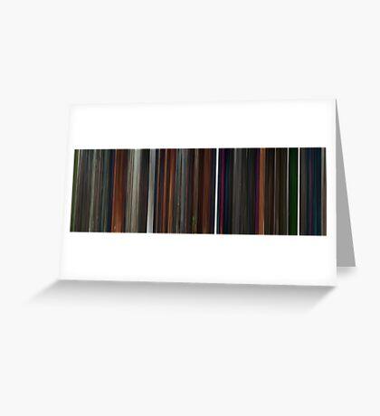 Moviebarcode: Coraline (2009) Greeting Card