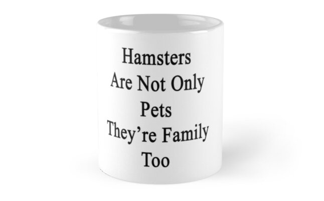 Hamsters Are Not Only Pets They're Family Too  by supernova23