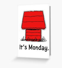 Happy monday greeting cards redbubble snoopy monday greeting card m4hsunfo Image collections