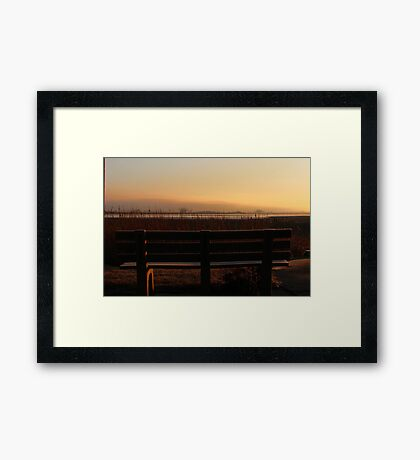 Mother Nature's Show..seating for two only Framed Print