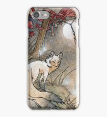 Fox & Wisps - Kitsune Yokai Foxfire  iPhone Case/Skin
