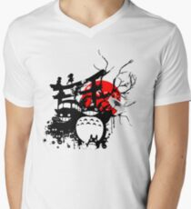 Japan Spirits Men's V-Neck T-Shirt