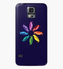 Funda/vinilo para Samsung Galaxy Color: Emperor Penguin Rainbow Pinwheel