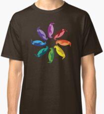 Color: Emperor Penguin Rainbow Pinwheel Classic T-Shirt