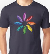 Farbe: Kaiserpinguin Rainbow Pinwheel Slim Fit T-Shirt