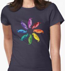 Color: Emperor Penguin Rainbow Pinwheel T-Shirt