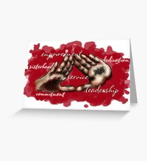 Deltas Greeting Card