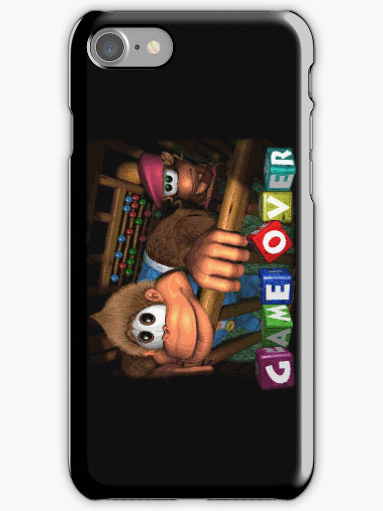 Donkey Kong Country 3 Game Over Landscape iPhone Case by TalkThatTalk
