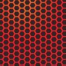 Red Hexagonal Pattern by hmx23