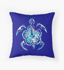 Tribal Sea Turtle Throw Pillow