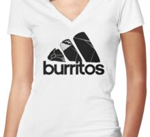 BURRITOS Women's Fitted V-Neck T-Shirt