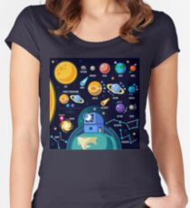 Universe Concept Isometric Women's Fitted Scoop T-Shirt