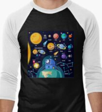 Space Universe Solar Big Bang Men's Baseball ¾ T-Shirt