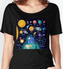 Space Universe Solar Big Bang Women's Relaxed Fit T-Shirt