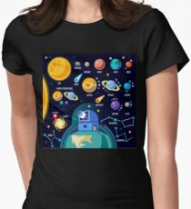 Space Universe Solar Big Bang Women's Fitted T-Shirt