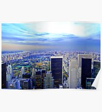 Overlooking Central Park ~ New York City ~ USA Poster