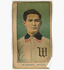 Benjamin K Edwards Collection McGeehan Wilson Team baseball card portrait Poster