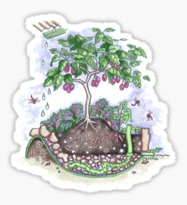 Wicking bed for Orphanage Garden Yasothon Sticker