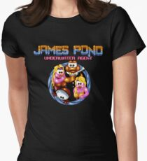 James Pond - SNES Title Screen Womens Fitted T-Shirt