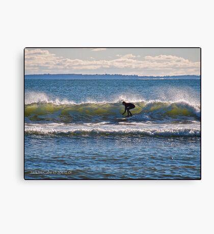 Surfs Up at Deep Hole - Matunuck - Rhode Island Canvas Print