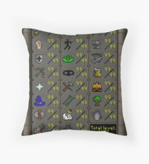 Maxed Skills Throw Pillow