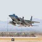 F-15C Eagle #AF 80-0028 Taking Off by Henry Plumley