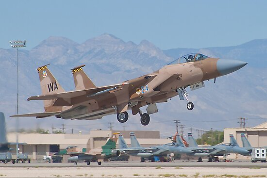 F-15C Eagle #WA AF 80-0024 Lifting Off by Henry Plumley