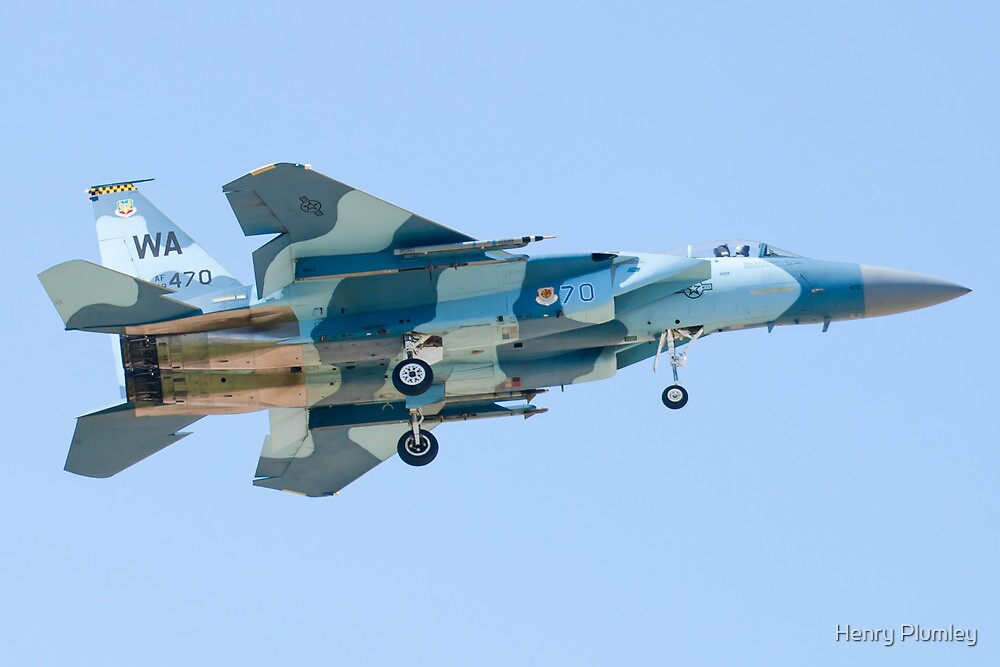 WA AF 78-0470 F-15C Eagle On Approach by Henry Plumley