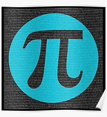 First 10,000 digits of Pi, blue on black. Poster