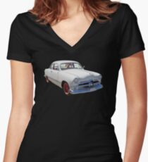 1950  Ford Custom Antique Car Women's Fitted V-Neck T-Shirt