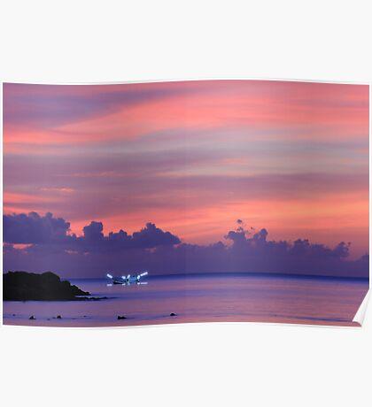 Koh Phangan sunset Poster