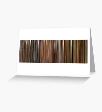 Moviebarcode: The Complete Wes Anderson (1994-2009) Greeting Card