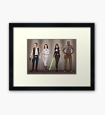A Galaxy Far Away - Agents Combined Framed Print