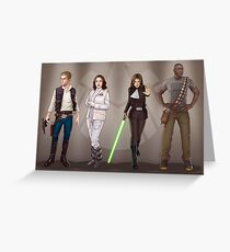 A Galaxy Far Away - Agents Combined Greeting Card