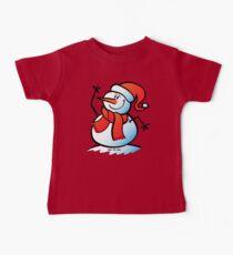 Snowman Waving Baby Tee